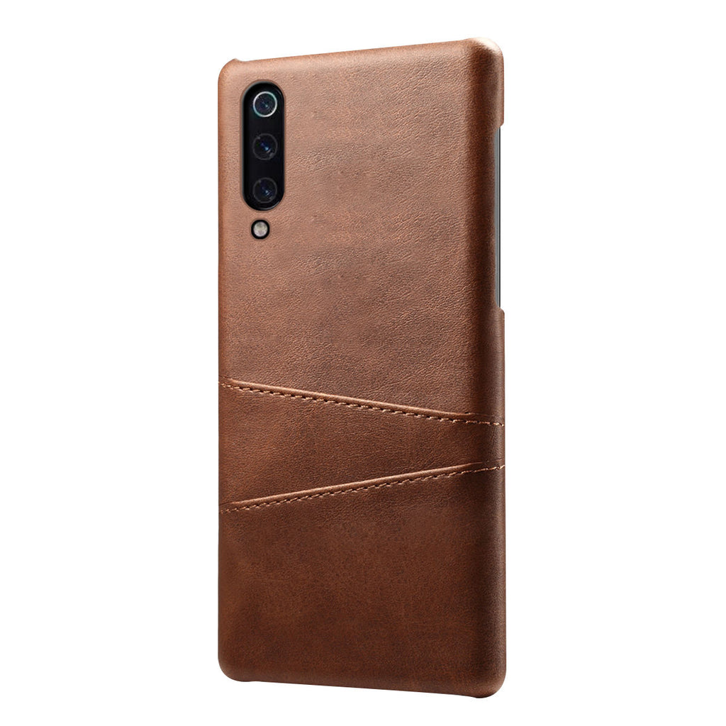 Protective Case for Xiaomi Mi 9 Explore Hard Back Cover Card Slot Dark Brown