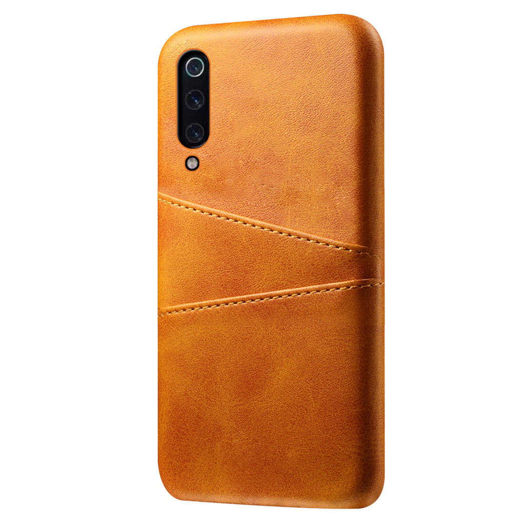 Xiaomi Mi 9 Cover Drop-proof Hard Back Case Card Slot Orange