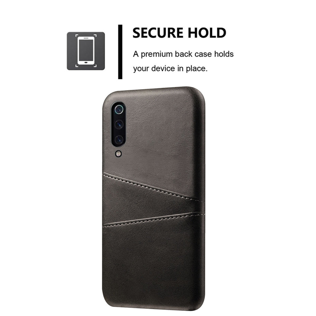 Xiaomi Mi 9 Case Scratch Resistant Anti-Fall Hard Cover Card Slot Function Black
