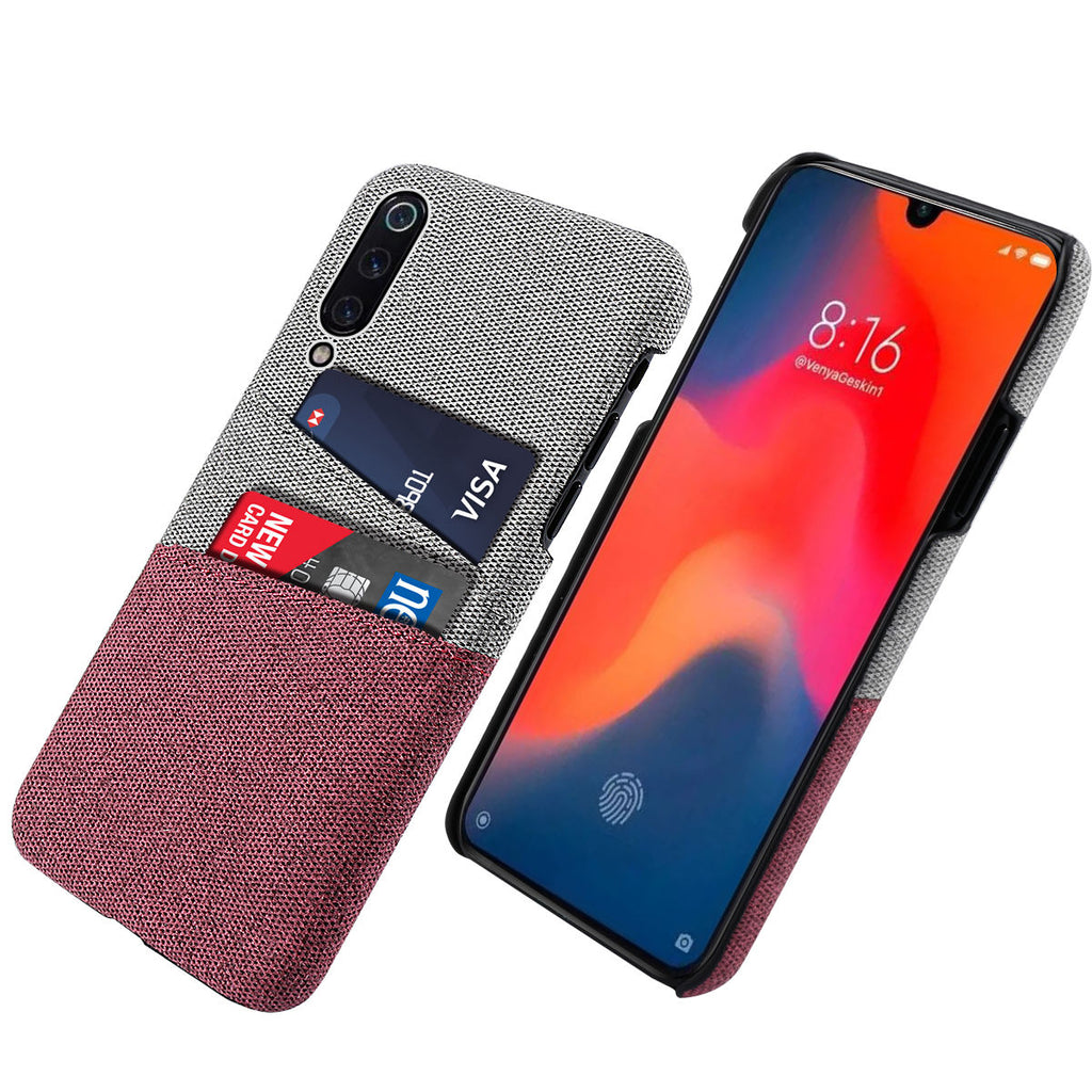 Xiaomi Mi 9 Phone Case Dual Card Slot PC Hard Back Cover Red