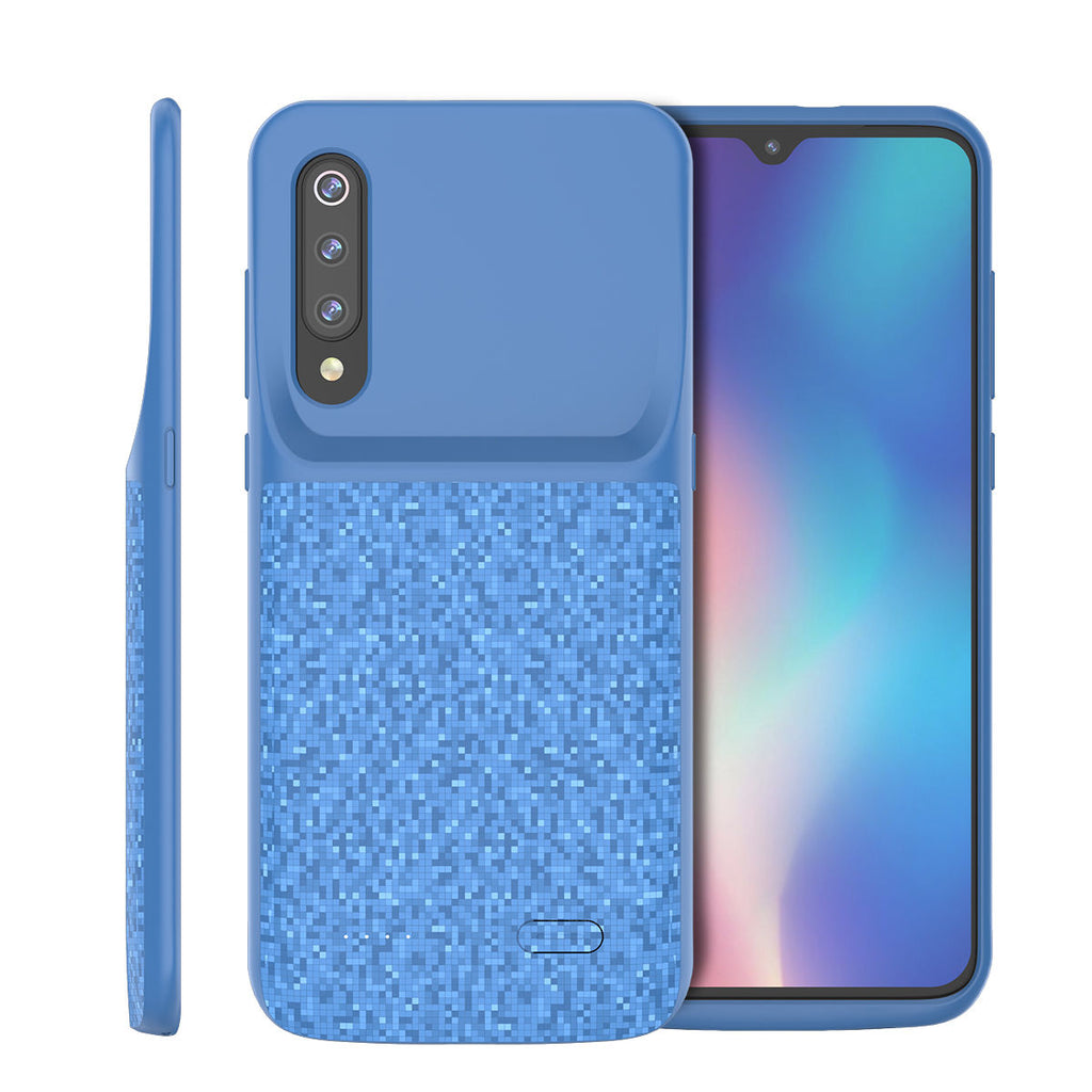 Xiaomi Mi 9 SE Battery Case 4700mAh Extended Backup Protective Charging Case Blue
