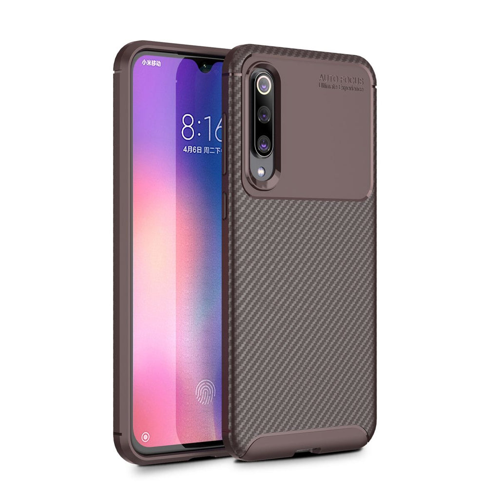 Xiaomi Mi 9 SE Slim Soft TPU Bumper Case Dropproof Protective Cover Brown