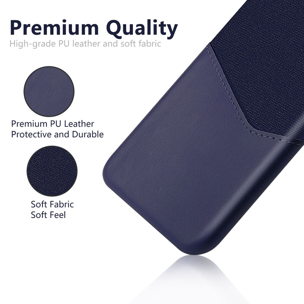 Xiaomi Mi 9 Explore Back Case Cover Card Slot Splicing PU Leather Soft Fabric Dark Blue