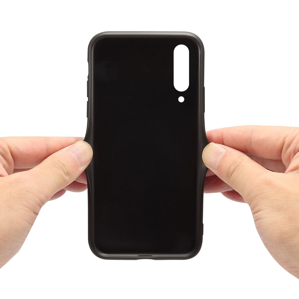 Xiaomi Mi 9 Explore TPU + PU Back Cover Slim Case Card Slot Black