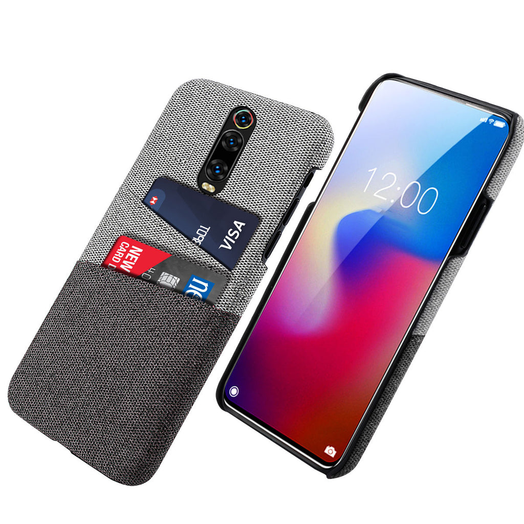 Redmi K20 Pro Case with Card Holder Shock Resistance Ultra Thin Cover Black