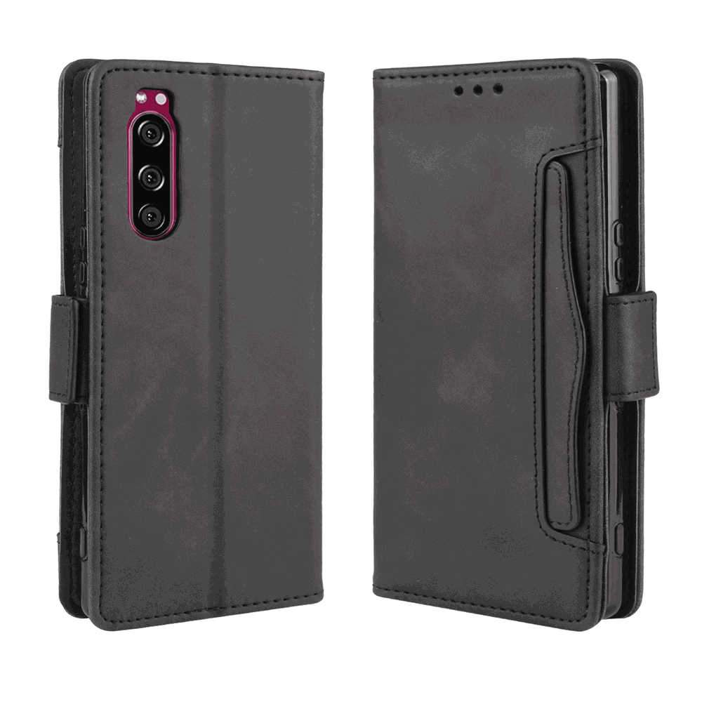 Sony Xperia 5 Wallet Case Flip Fold Leather Case with Multi-card Slot for Sony Xperia 5 Black