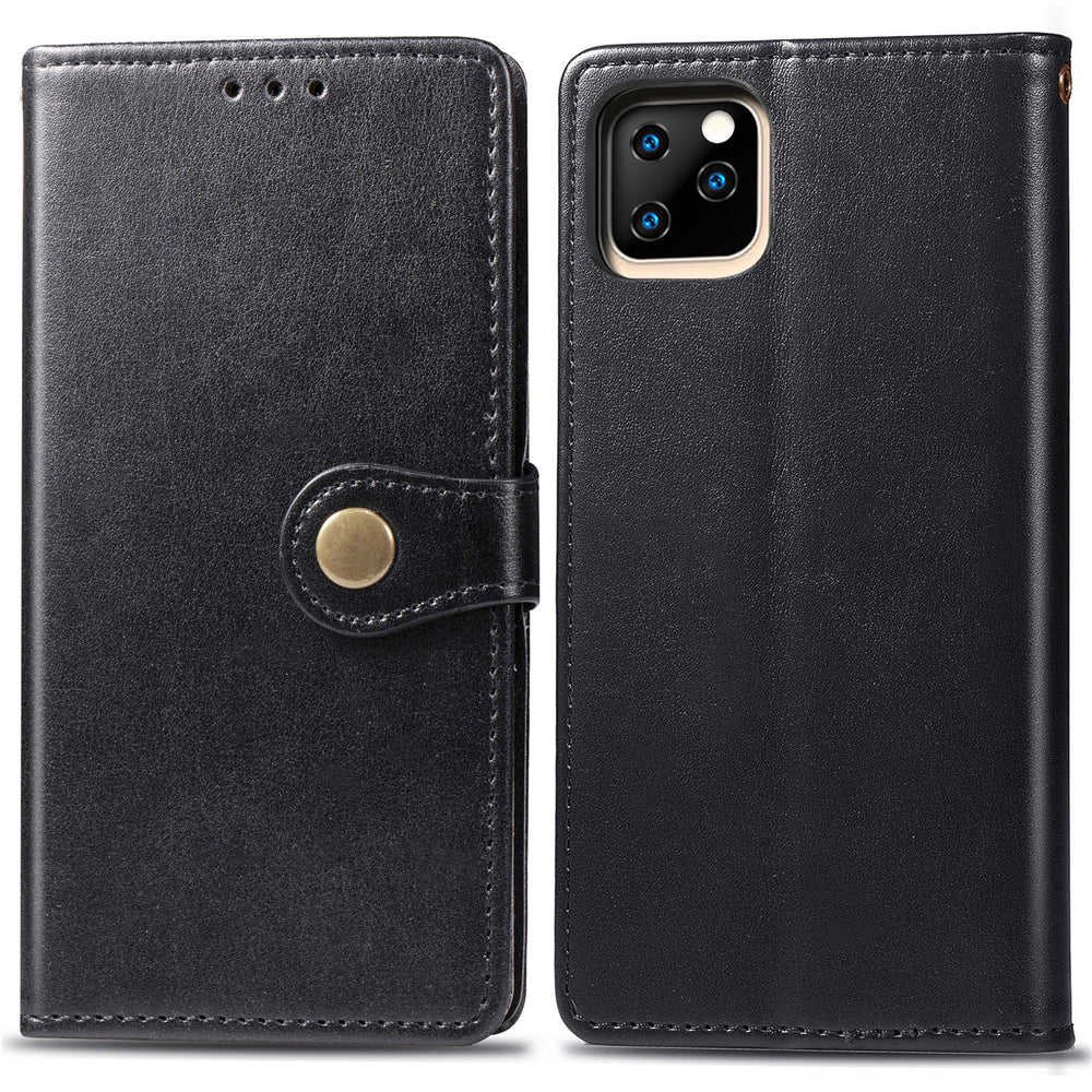 iPhone 11 pro max Wallet Case with Card Solt Holder Leather Flip Leather Case Black