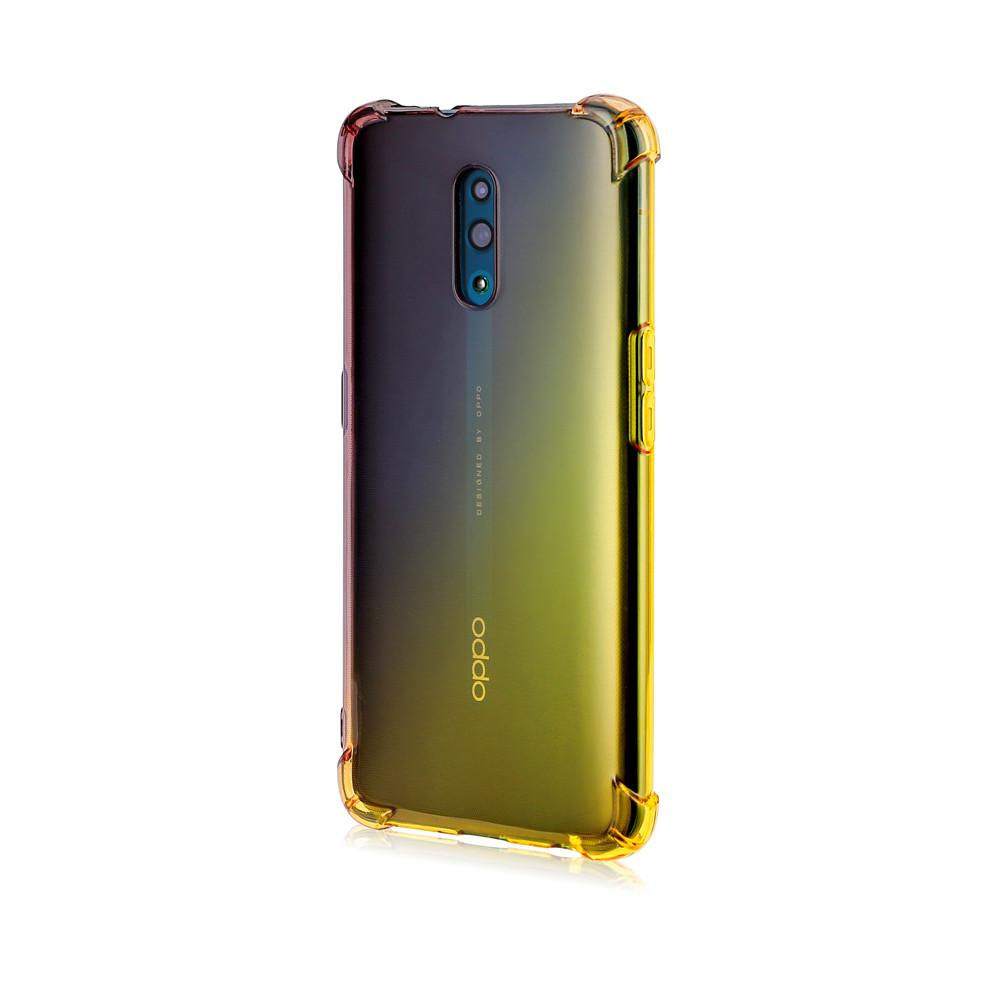 Oppo Reno Clear Case Ultra Thin Impact Resistant Full Body Protective Cover Black-gold
