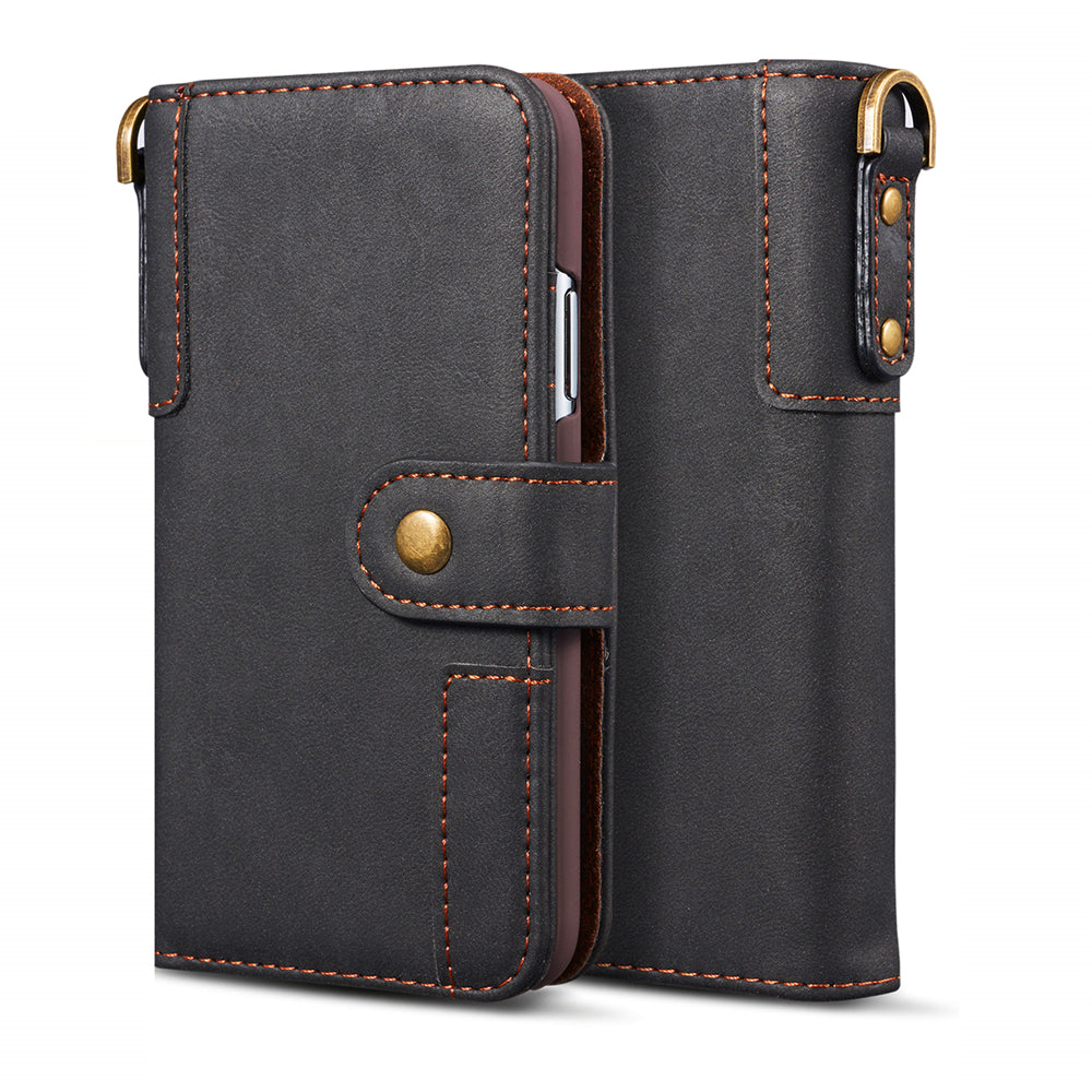 iPhone 11 pro Leather Case Luxury ID Cash Credit Card Slots Holder Folio Flip Cover Black