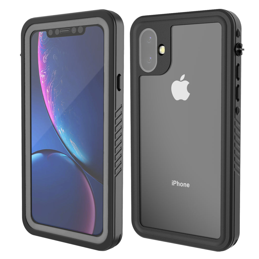 iPhone 11 Waterproof Case Shock Drop Proof Rugged Cover Built-in Screen Protector Black