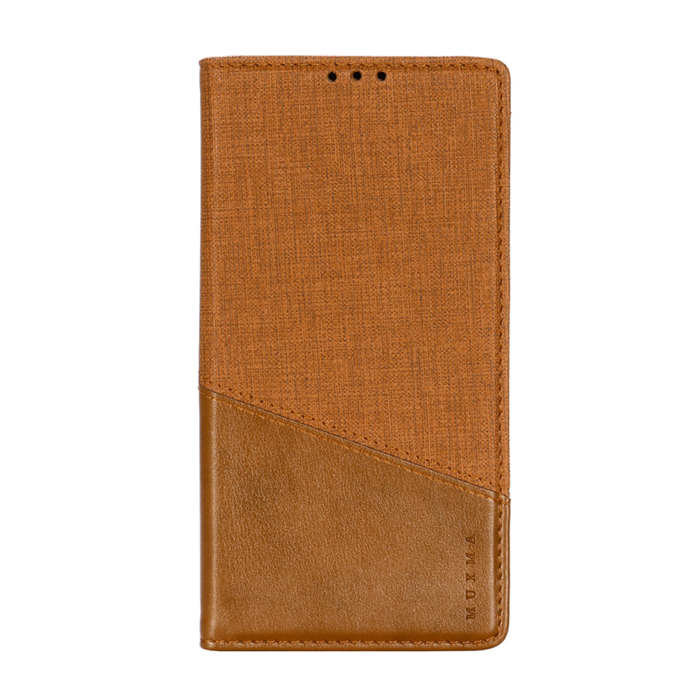 2-in-1 Card Wallet Case for Xiaomi Mi Note 10 Magnetic Closure Shock-Proof Slim Case with RFID Blocking Brown