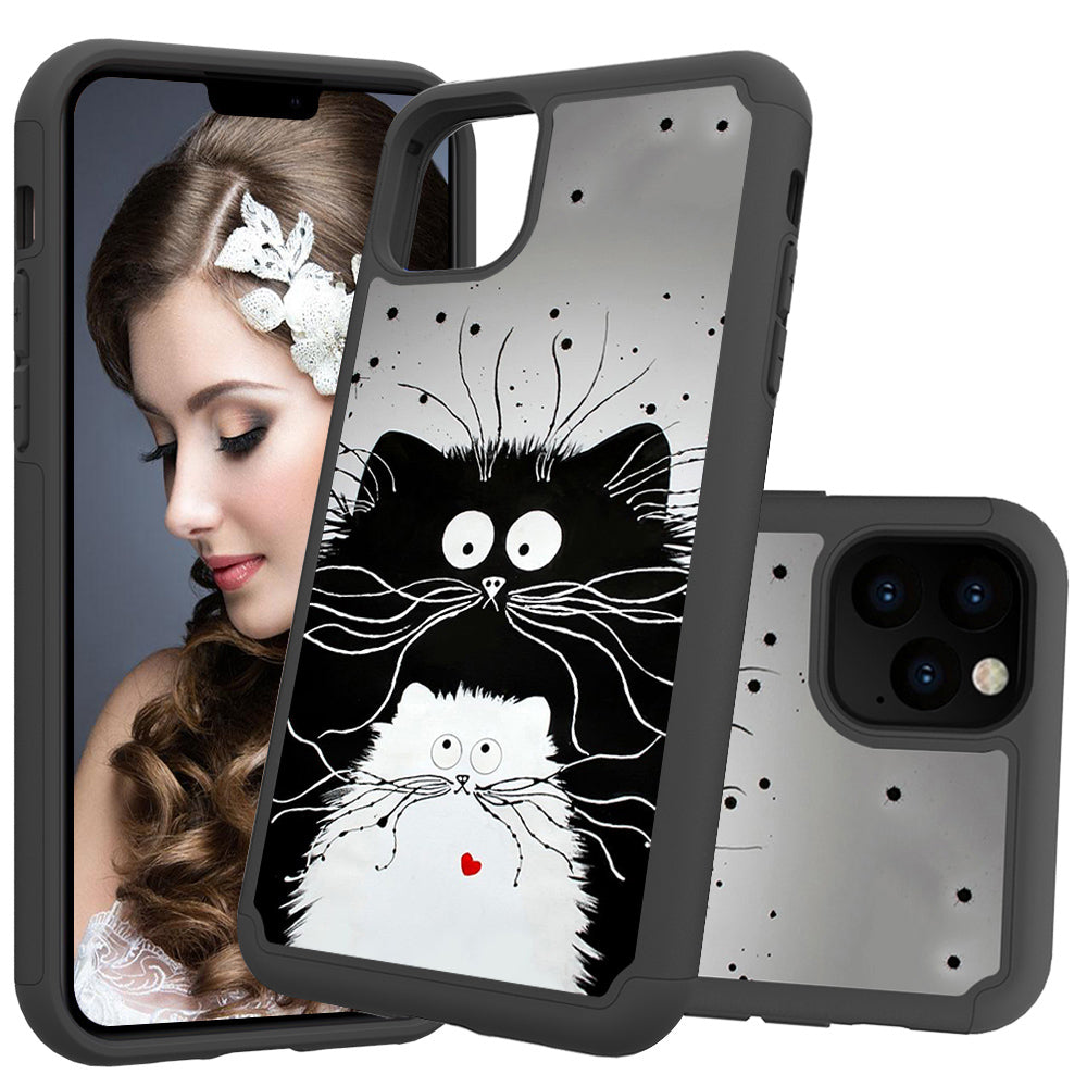Cover for iPhone 11 Pro Max Silicone Bumper Protective Case Cute Phone Case (Kitty)