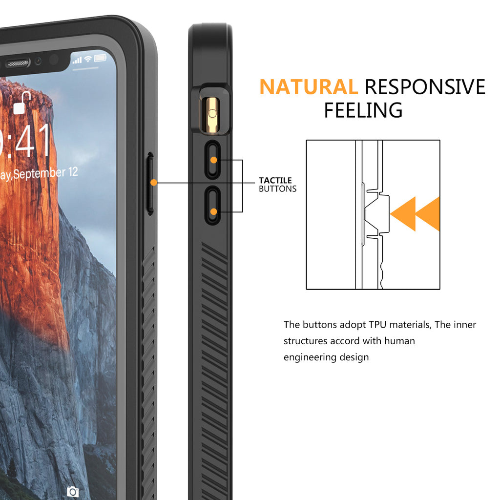 iPhone 11 Pro Max Waterproof Case Rugged Hybrid Cover with Built-in Screen