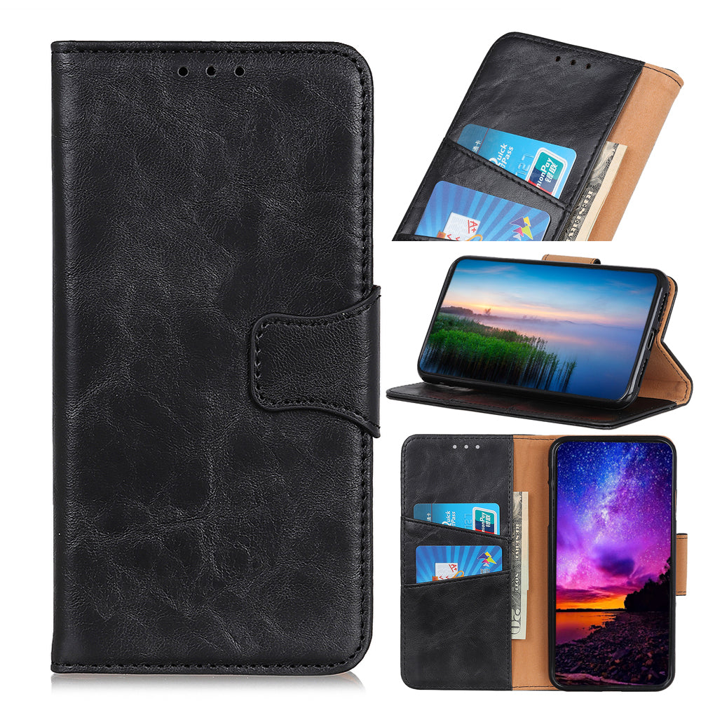 Realme X2 Pro Case Leather Flip Wallet Phone Case with Card Holder Cover Black