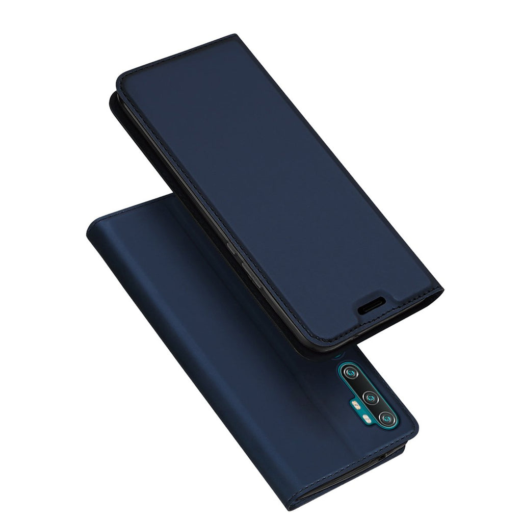 Wallet Case for Xiaomi Mi Note 10 with TPU Inner Shell Magnetic Closure Card Holder Case Blue