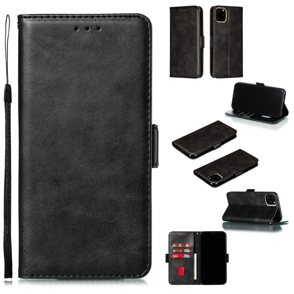 iPhone 11 pro max Wallet Case PU Leather Case with Card Holder & Satand Black