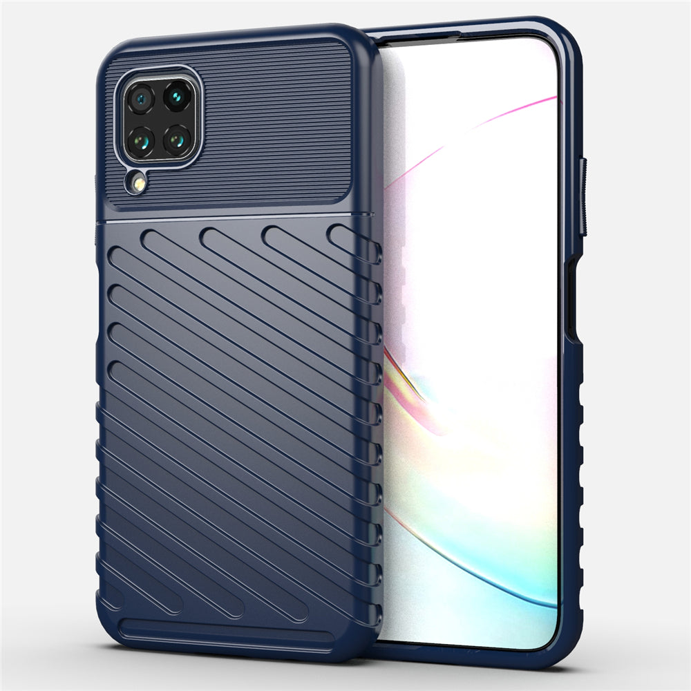Huawei Nova 6 SE Case Ultra Slim Frosted Texture Soft TPU Phone Back Case Navy Blue