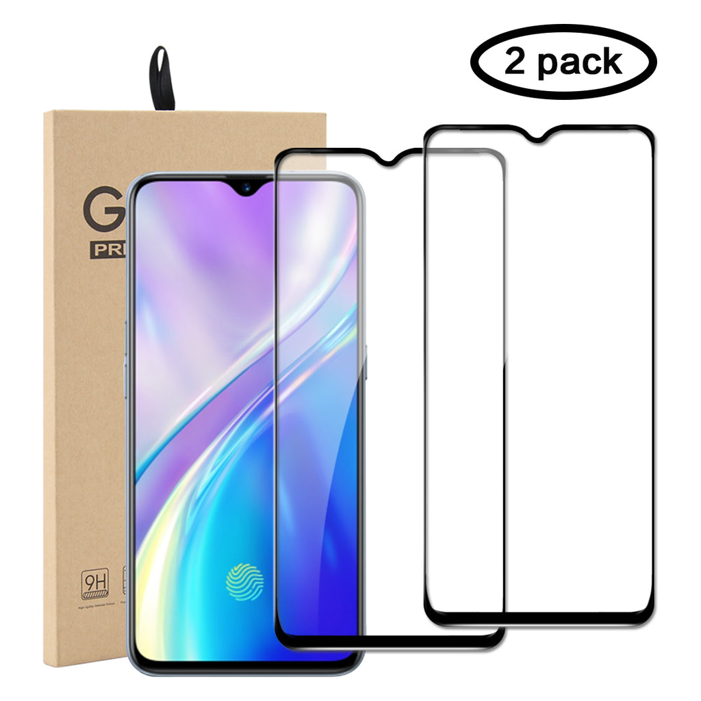Realme X2 Screen Protector Tempered Glass Anti-Scratch Bubble Free for Oppo 2 Pack