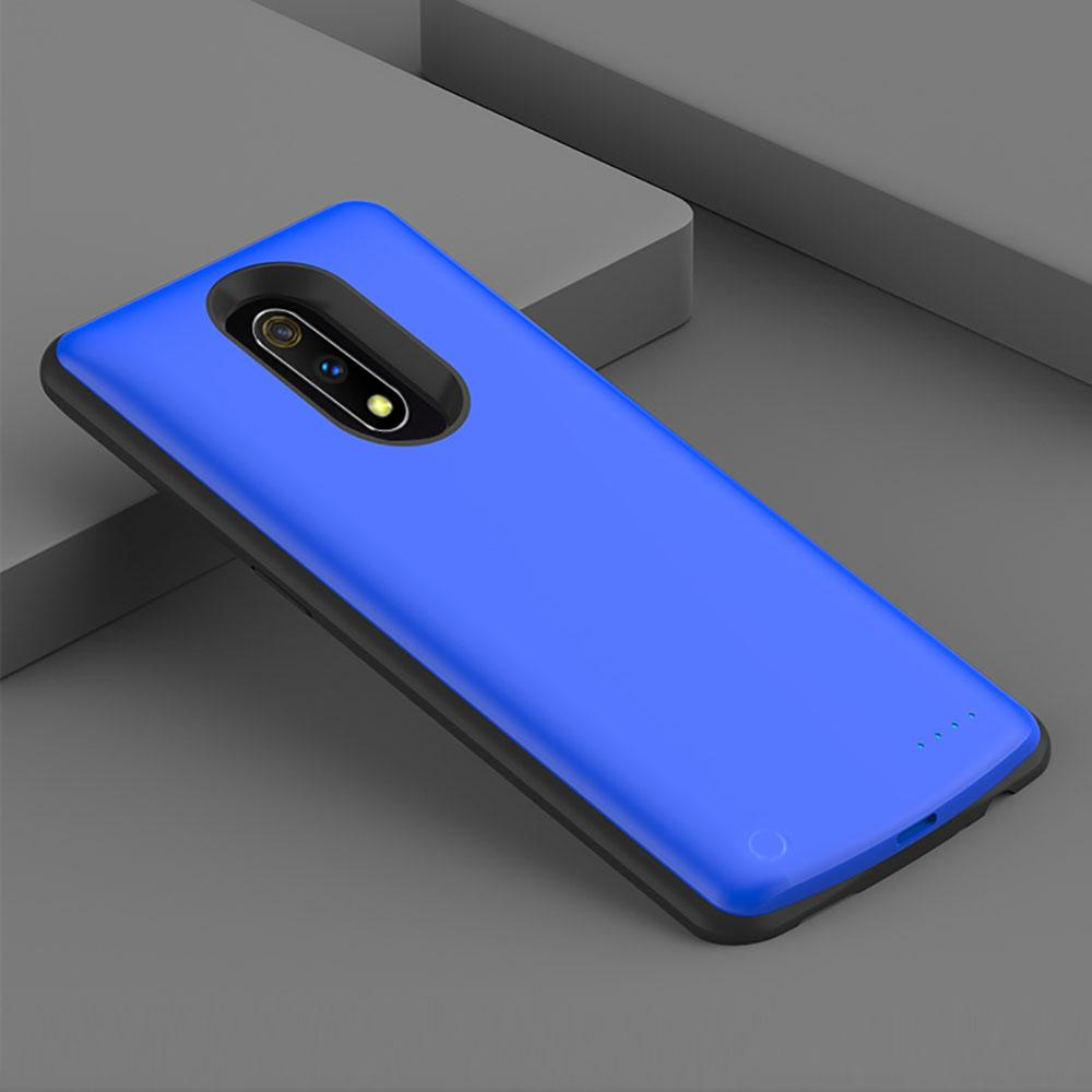 Oppo Realme X Battery Case 6500mAh Portable Power Bank Slim Charger Blue