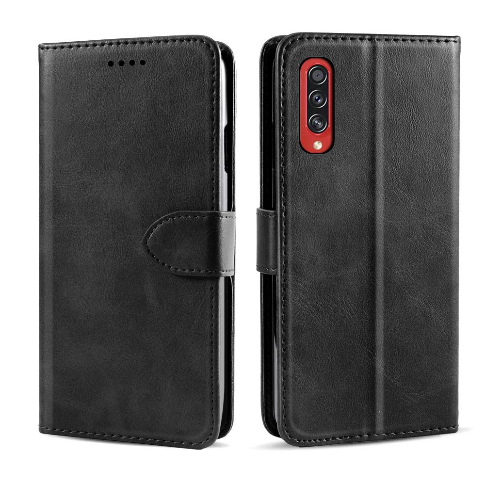 Galaxy A70s Wallet Case with Credit Card Holder ID Slots Leather Cover with TPU Shell Black