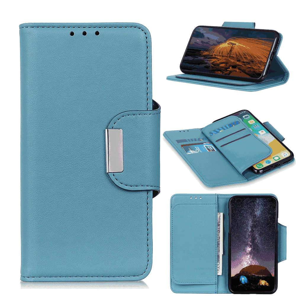 Huawei Honor V30 Wallet Case with Multi-card Slots Magnetic Closure Flip Stand Cover Light Blue