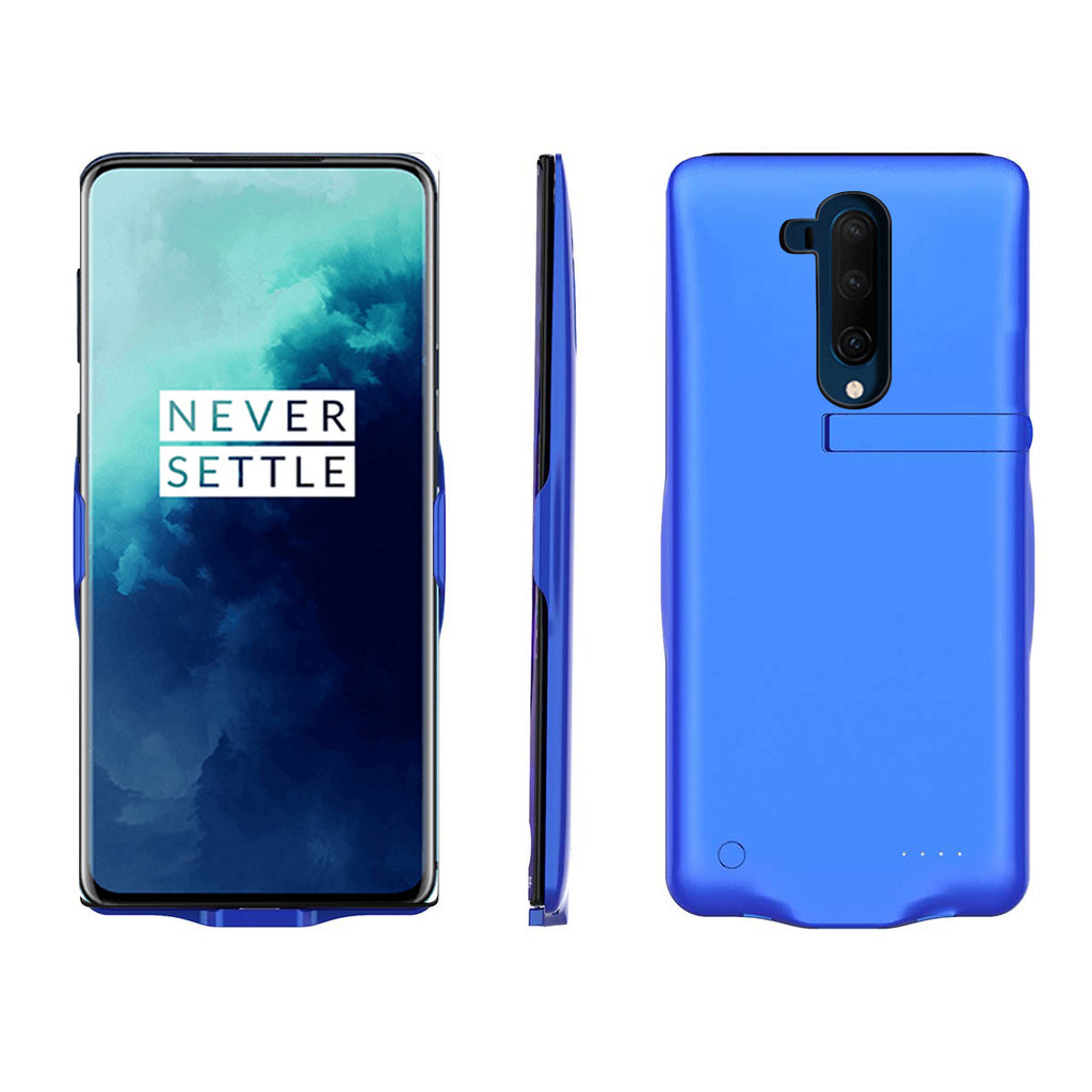Oneplus 7T Pro Battery Case 6500mAh Rechargeable Protective Charging Case Battery Backup Charger Blue