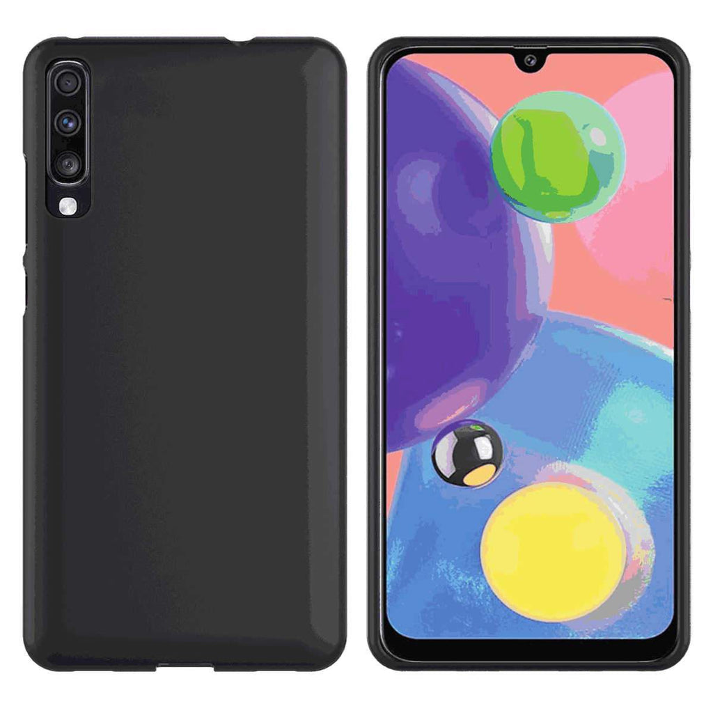 Samsung Galaxy A71 Case Slim Fit Soft TPU Shockproof Phone Case Protective Cover Black