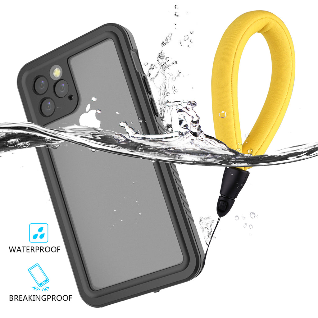 iPhone 11 pro Waterproof Case IP68 Shockproof Dropproof Full Protection Case with Floating Strap