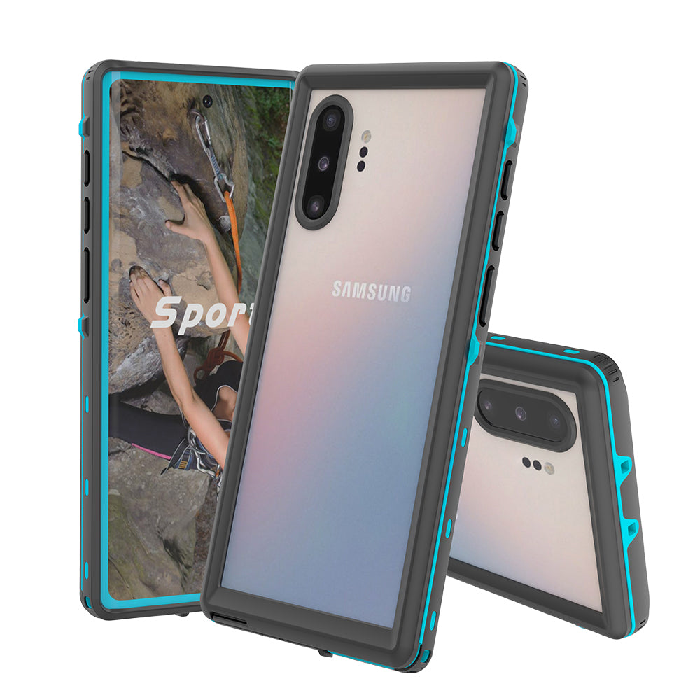 Samsung Note 10 Plus Waterproof Case IP68 Sealed Protective Dust/Snow/Shock Proof Cover Blue