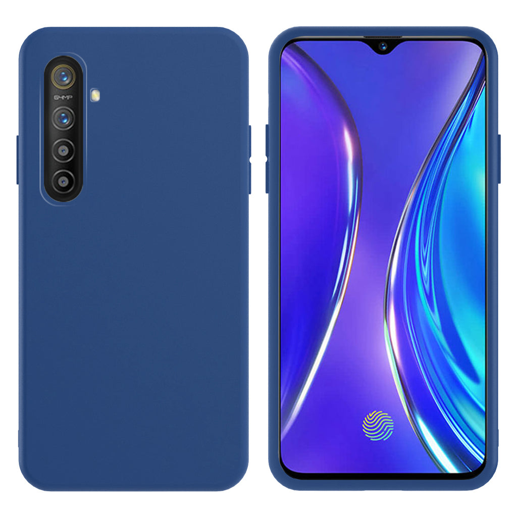 Realme X2 Case TPU Bumper Cushion Anti-scratch Shock-proof Back Cover Blue