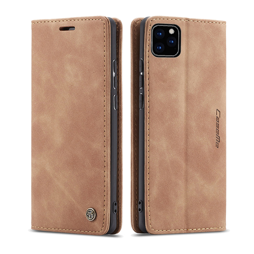 iPhone 11 Wallet Case Multi-functional Leather Case with Kickstand Khaki