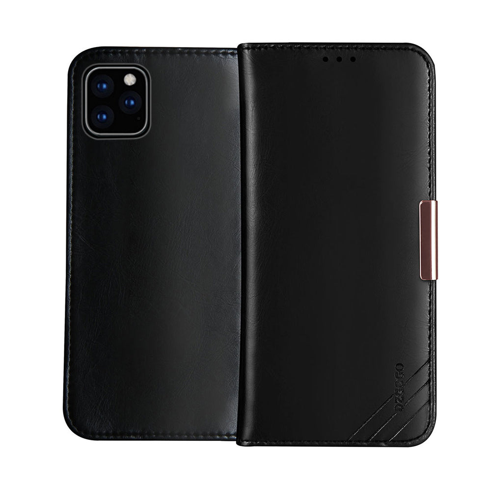 Genuine Leather Case for iPhone 11 pro with Card Slots Shockproof Wallet Case Black