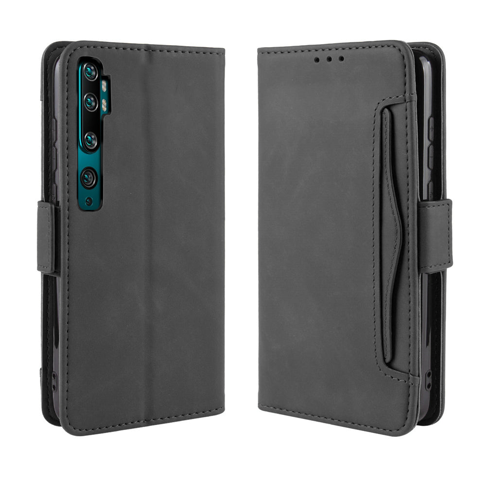 Xiaomi Mi Note 10 Leather Case Protective Cover with Card Slots Wallet Black