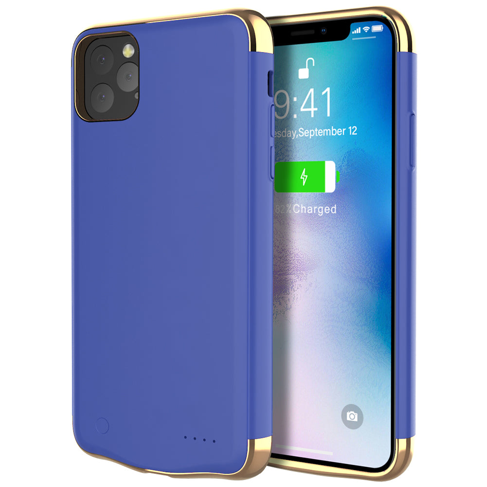 Battery Case for iPhone 11 pro max 6000mAh Protective Portable Charging Case Blue