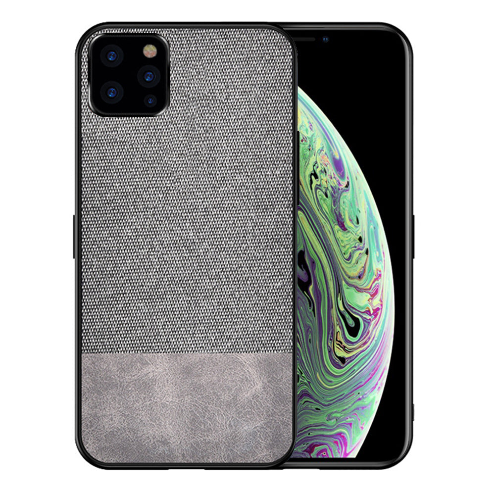 iPhone 11 Pro Case PC + TPU Shock Resistant Protective Fabric Cover Grey