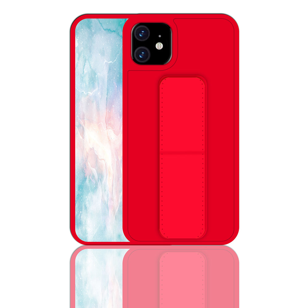 iPhone 11 Case Ultra Thin Impact Resistant Phone Cover with Belt Bracket for Women Red