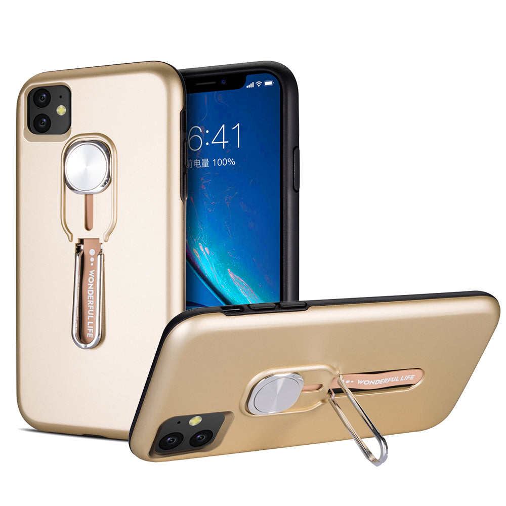 iPhone 11 Case Scratch-Resistant Protection Hard PC + Flexible TPU Gold