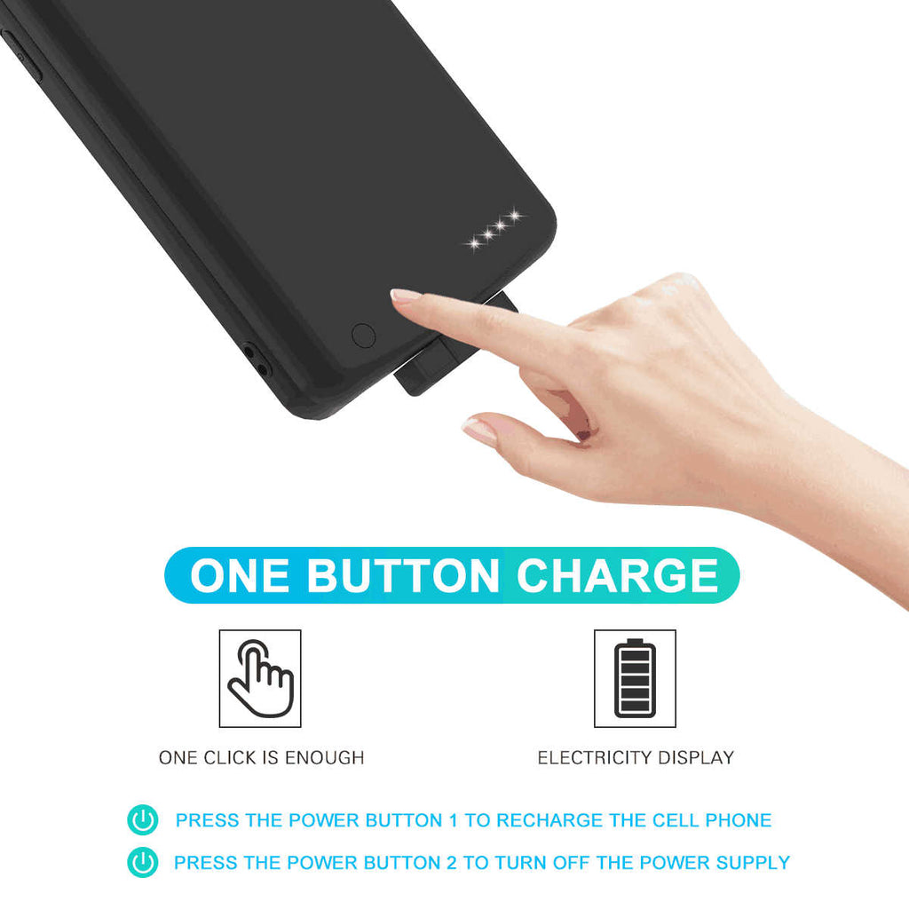 Huawei Mate 30 Battery Case Portable Magnetic Charging Case 7000mah Extended Backup Black