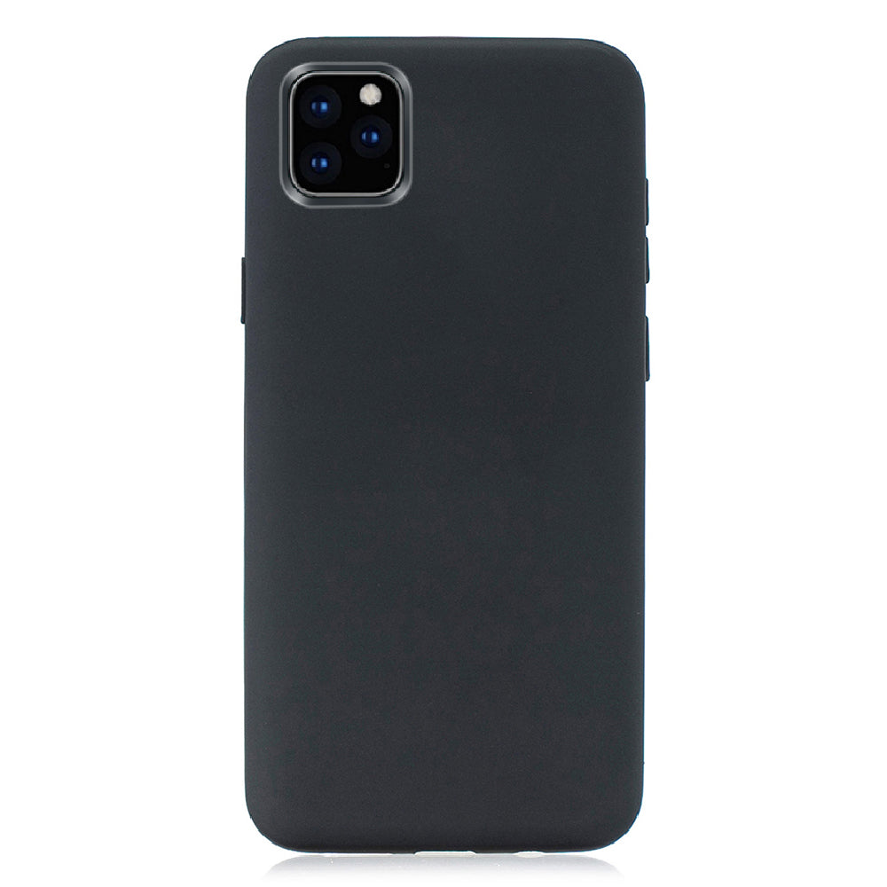iPhone 11 Case Hybrid PC Hard Panel Silicone Anti-Scratch Shockproof Slim Cover Black