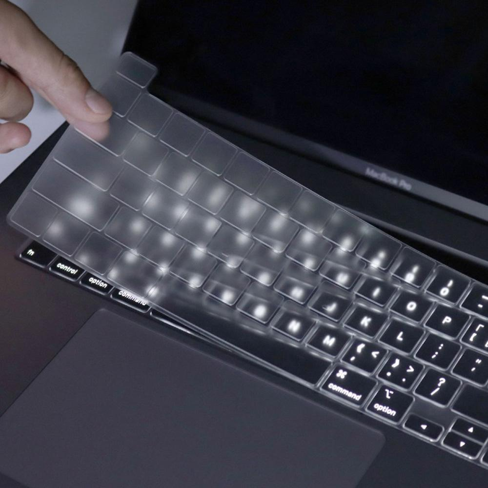 Keyboard Cover Skin for MacBook Pro 16 Inch 2019 Transparent TPU Laptop Keyboard Protective Film (EU Version)
