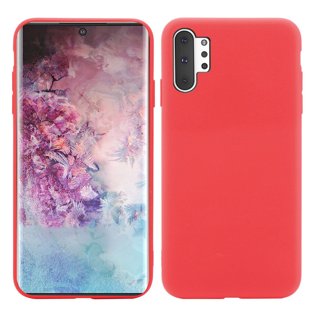 Samsung Galaxy Note 10 plus Case for Girls TPU Anti Fall Phone Cover Red
