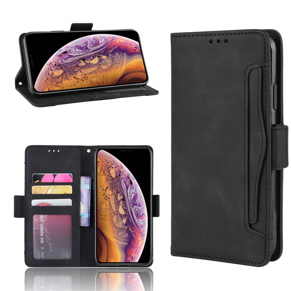2 in 1 Wallet Case for iPhone 11 Slim Protective Cover Leather Case Black