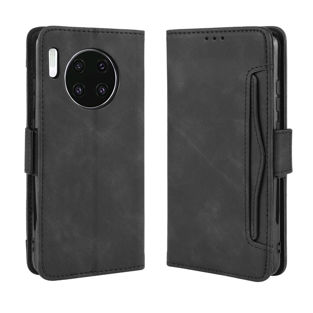 Huawei Mate 30 Leather Case Wallet with Multiple Credit Card Sots Black