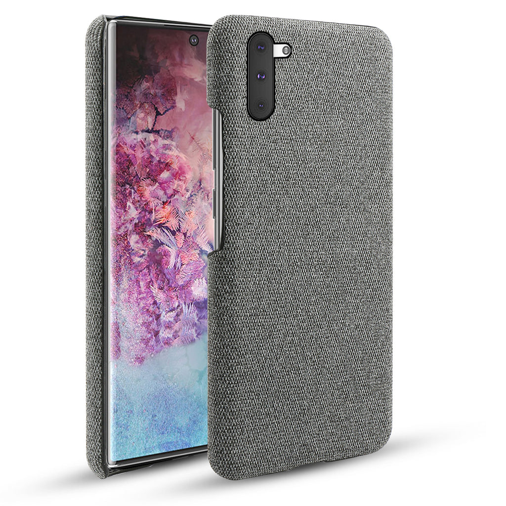 Case for Galaxy Note 10 Ultra Thin Shockproof Fabric Cases Phone Protection Grey