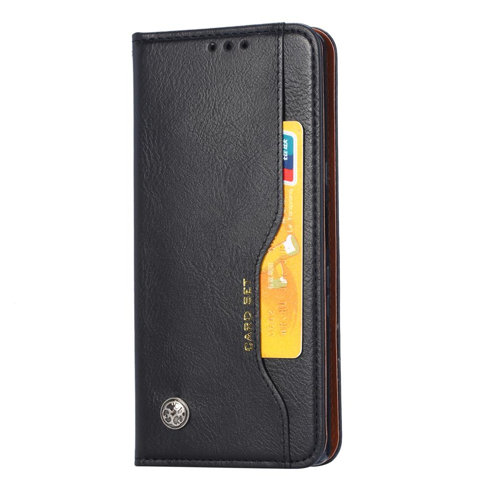 Huawei Mate 30 Wallet Case Leather Flip Case with Credit Card Slots Black
