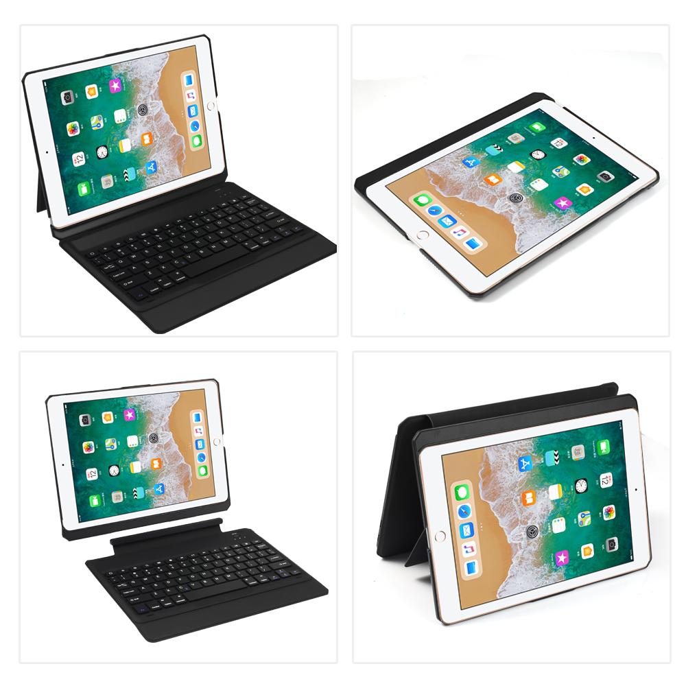 iPad Pro 9.7 Inch Case with Keyboard 2016 2017 2018 Leather Case with Auto Sleep/Wake Black(AmericanKeyboard)