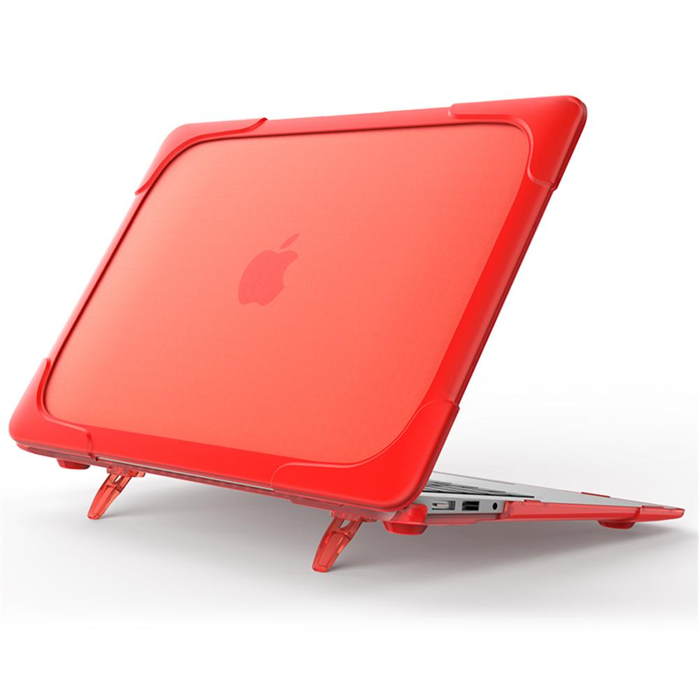 MacBook Air 13 inch Case with Retina Display Plastic & TPU Bumper Shell Notebook Protective Cover Red