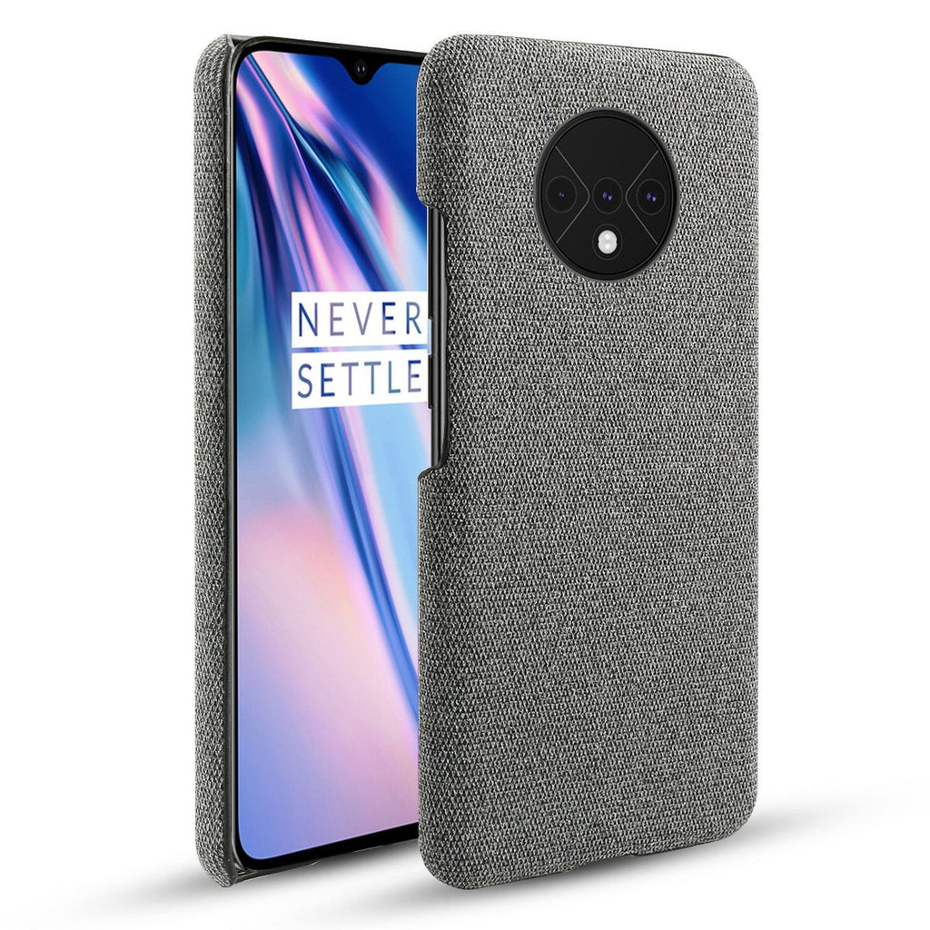 Case for Oneplus 7T Scratch Resistant Protection Fabric Cover Ultra Thin Case Grey