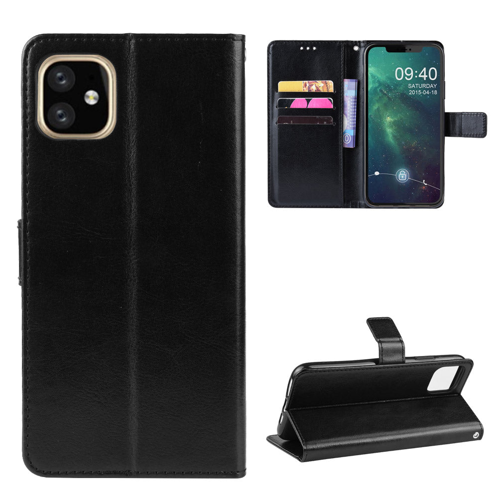 Card Case for iPhone XIS Max 6.5 inch Leather Wallet with Card Holder Black