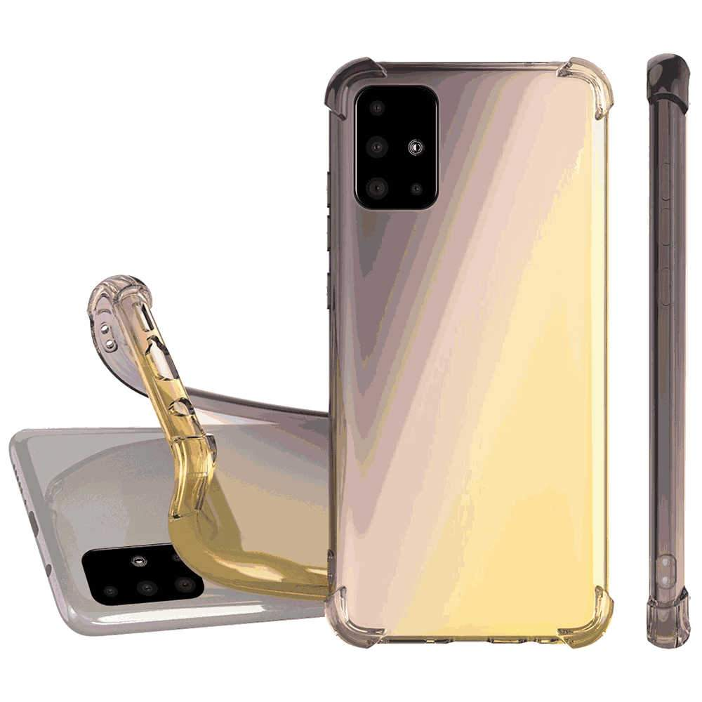 Phone Case for Samsung A51 TPU Protective Shockproof Case with Thickening Corners Black-Gold